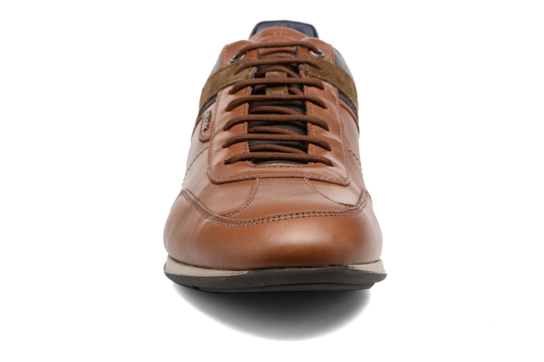 Baskets Geox U CLEMET B U722FB Marron vue portées chaussures