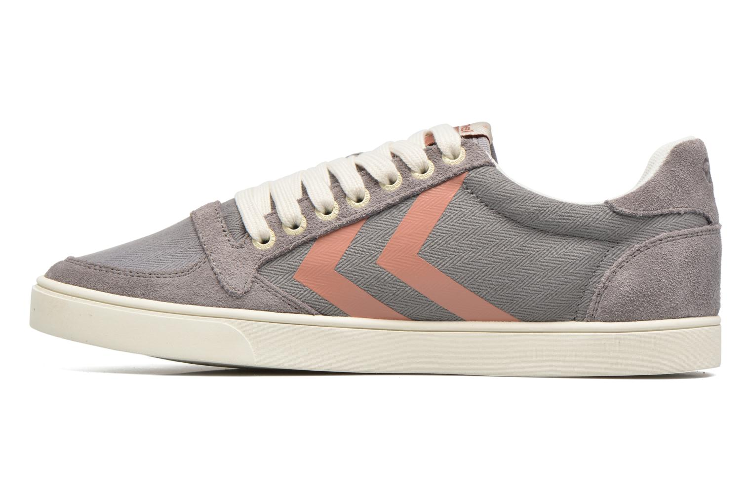 Baskets Hummel Ten Star Herringbone Low Gris vue face