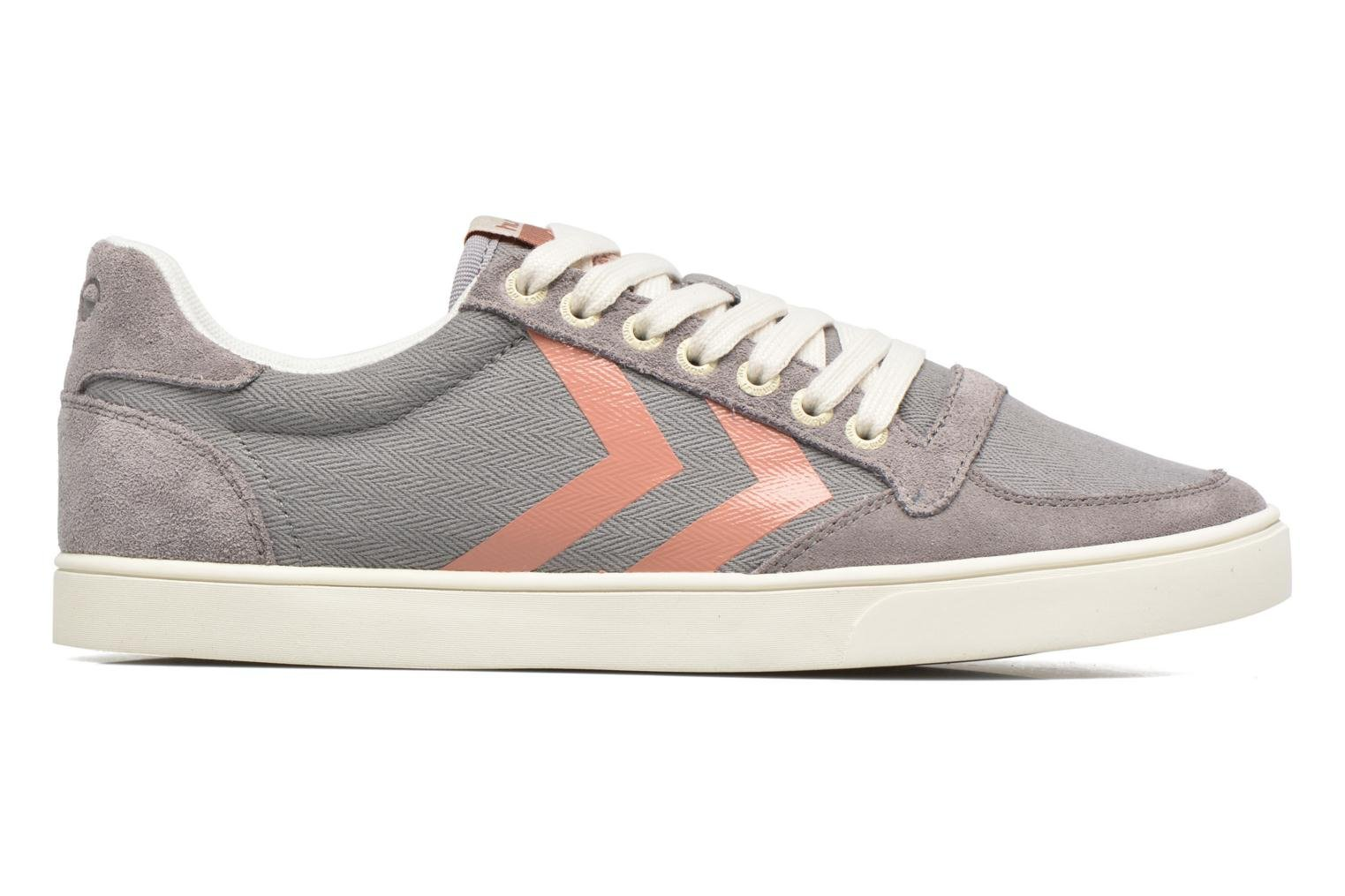 Baskets Hummel Ten Star Herringbone Low Gris vue derrière
