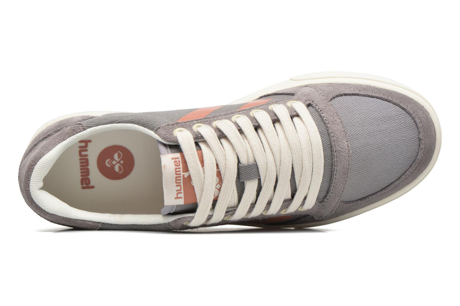 Baskets Hummel Ten Star Herringbone Low Gris vue gauche