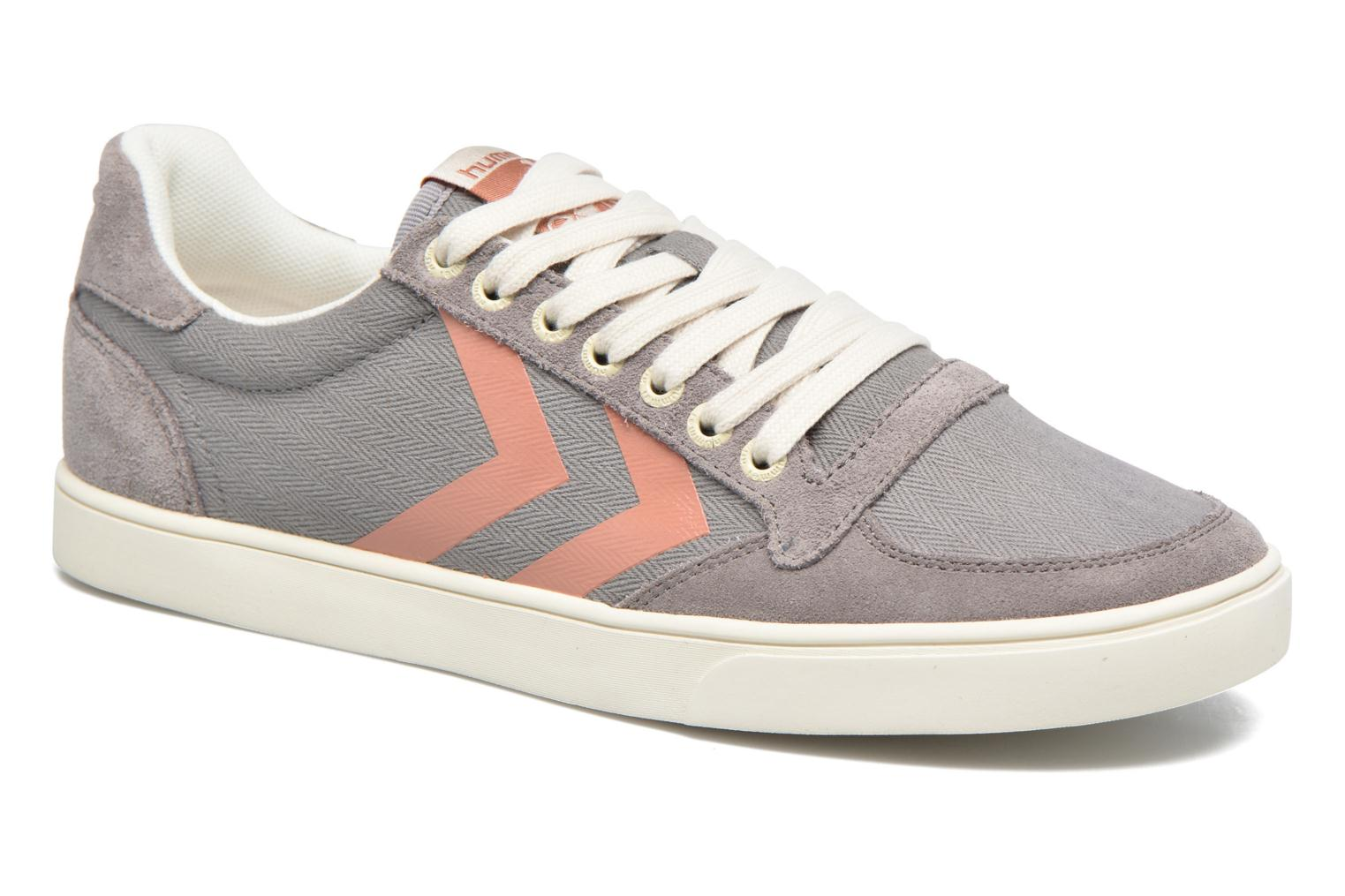 Baskets Hummel Ten Star Herringbone Low Gris vue détail/paire