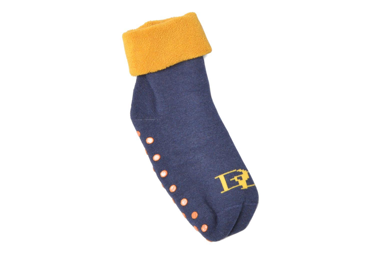 Chaussons-chaussettes Enfant Coton Anti-dérapants Bi-color 10497 BLEU