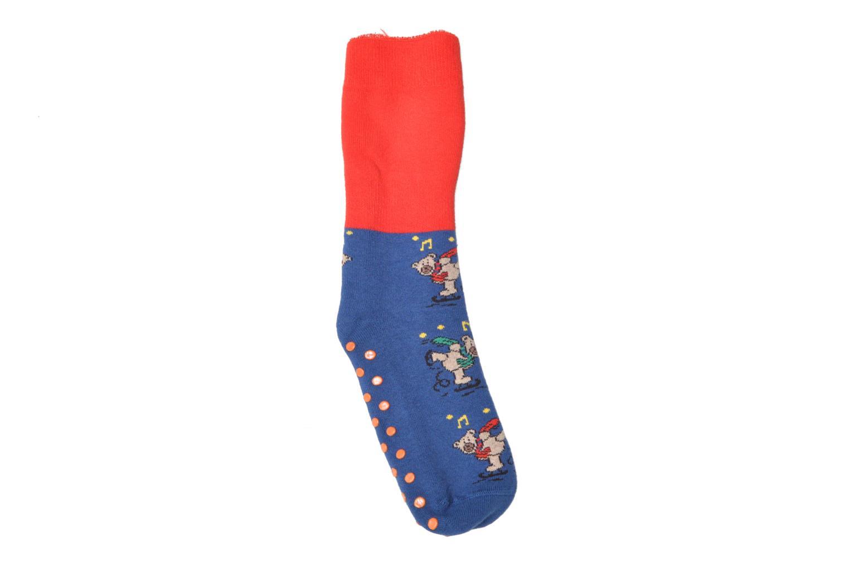 Chaussons-chaussettes Enfant Coton Anti-dérapants Ours 10494 BLEU