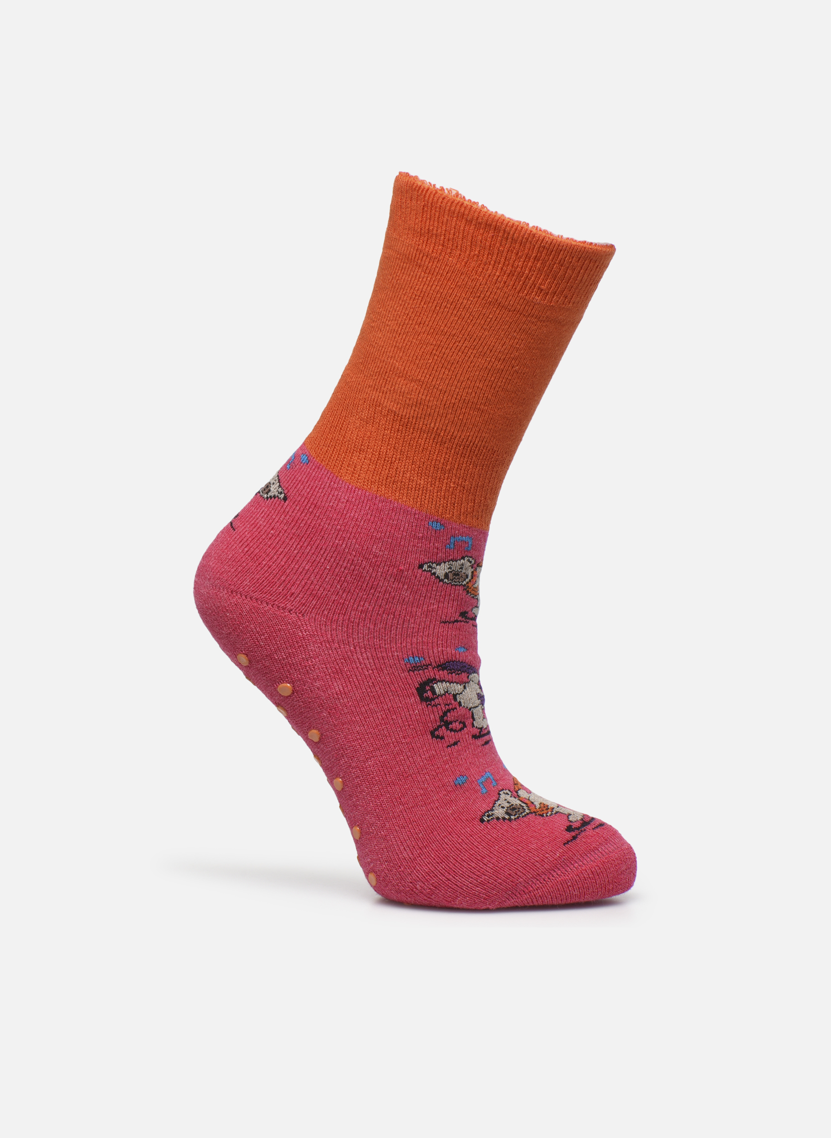 Chaussons-chaussettes Enfant Coton Anti-dérapants Ours