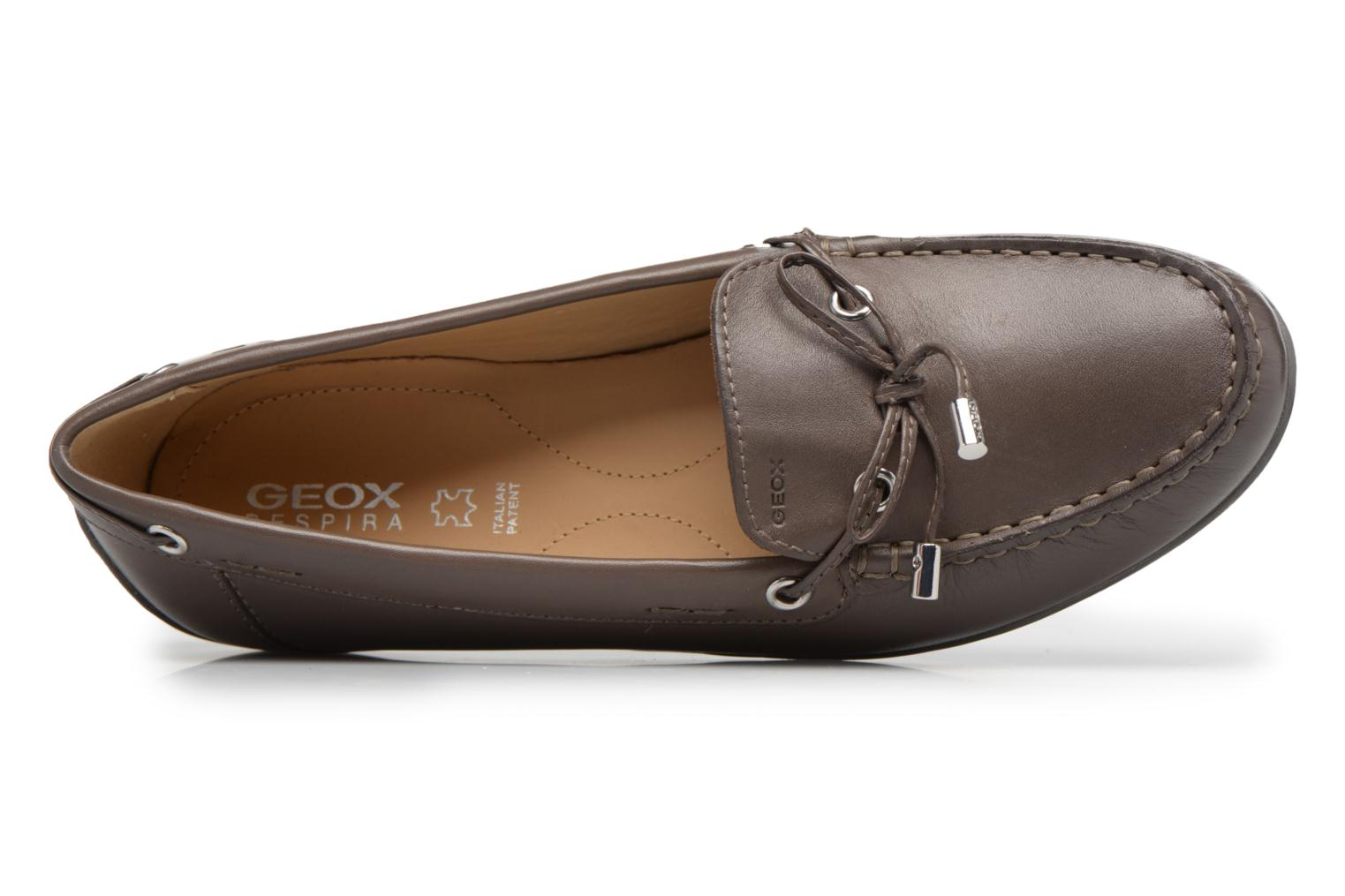 Loafers Geox D YUKI A D6455A Grey view from the left