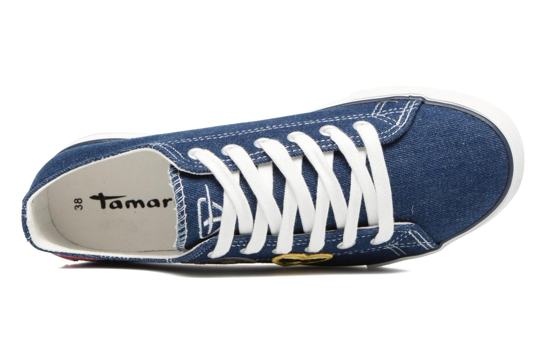 Baskets Tamaris Palmier Bleu vue gauche