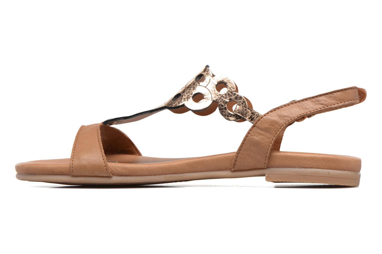Sandales et nu-pieds Tamaris Liseron Marron vue face