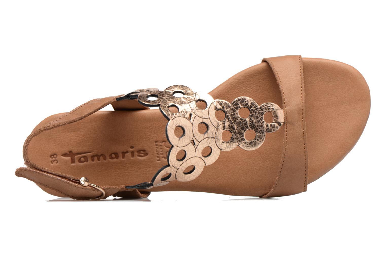 Sandales et nu-pieds Tamaris Liseron Marron vue gauche