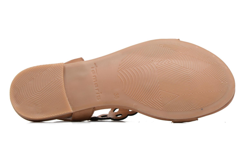 Sandales et nu-pieds Tamaris Liseron Marron vue haut