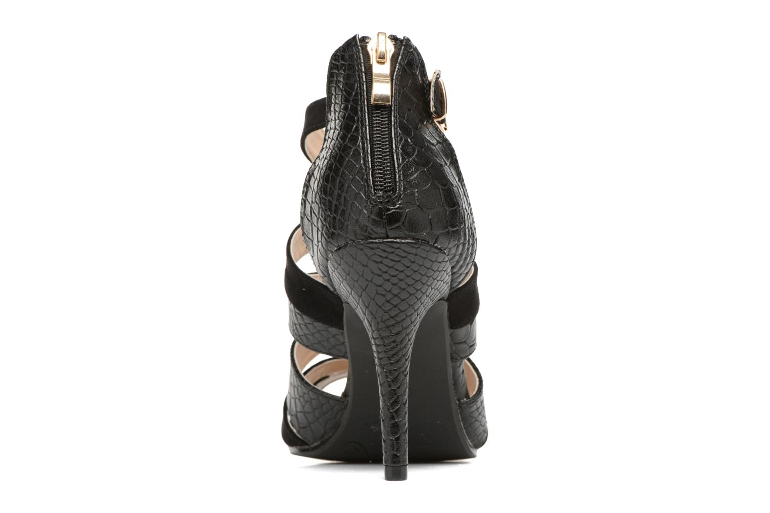 Sandals Divine Factory Zem Black view from the right