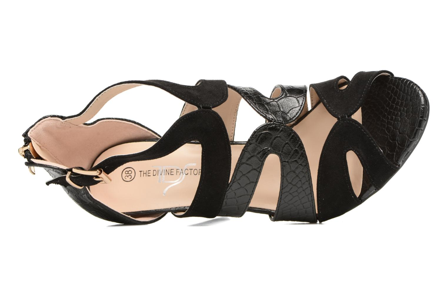 Sandals Divine Factory Zem Black view from the left