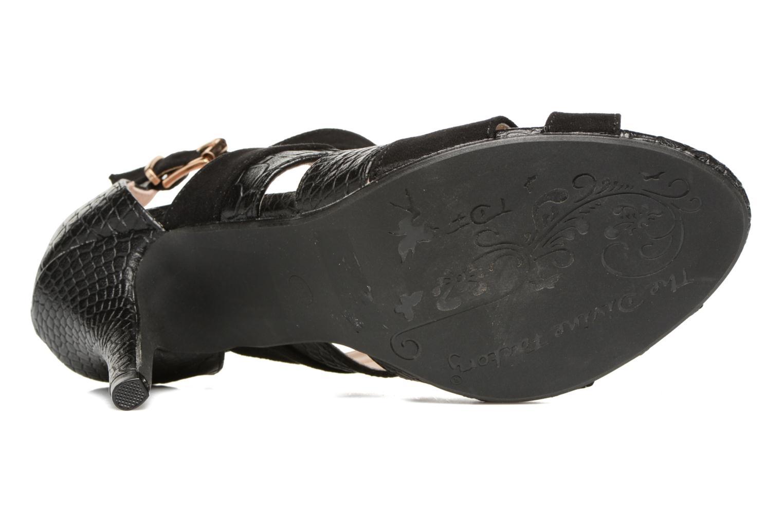 Sandales et nu-pieds Divine Factory Zem Noir vue haut