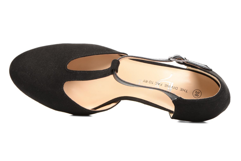 Zapatos de tacón Divine Factory Dock Negro vista lateral izquierda