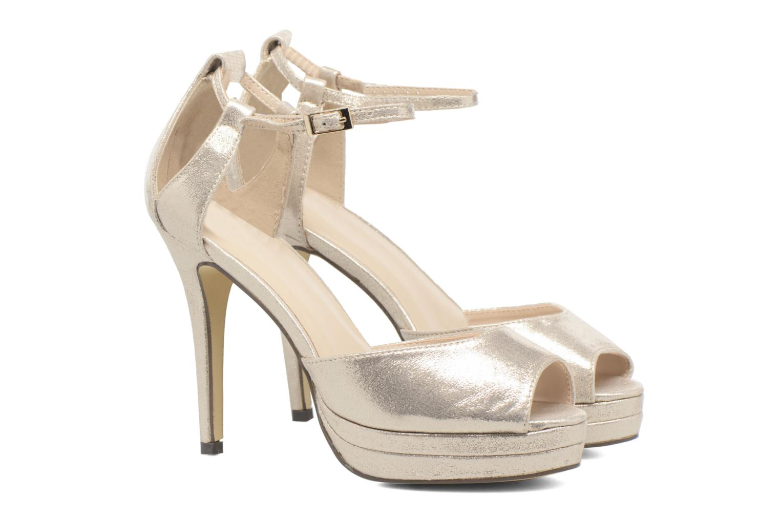 High heels Menbur ACEBO Bronze and Gold 3/4 view