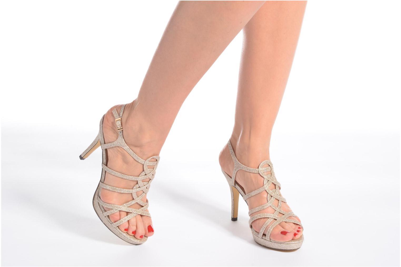 Sandales et nu-pieds Menbur BEGONIA Or et bronze vue bas / vue portée sac