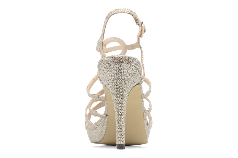 Sandales et nu-pieds Menbur BEGONIA Or et bronze vue droite