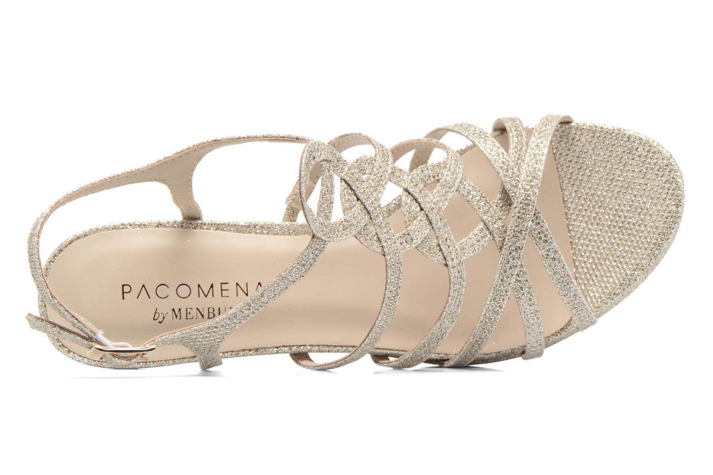 Sandales et nu-pieds Menbur BEGONIA Or et bronze vue gauche