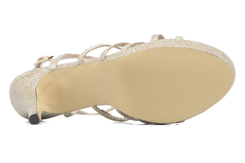 Sandales et nu-pieds Menbur BEGONIA Or et bronze vue haut