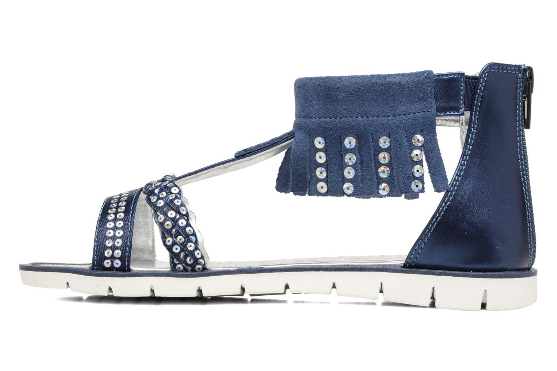 Sandales et nu-pieds ASSO Baccara Bleu vue face