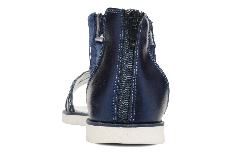 Sandales et nu-pieds ASSO Baccara Bleu vue droite