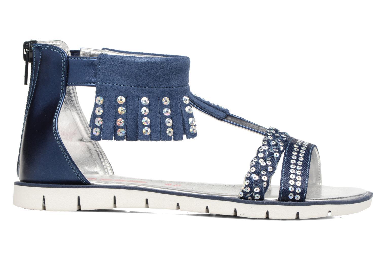 Sandales et nu-pieds ASSO Baccara Bleu vue derrière
