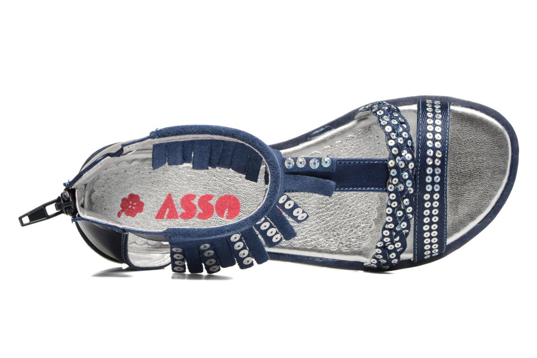 Sandales et nu-pieds ASSO Baccara Bleu vue gauche