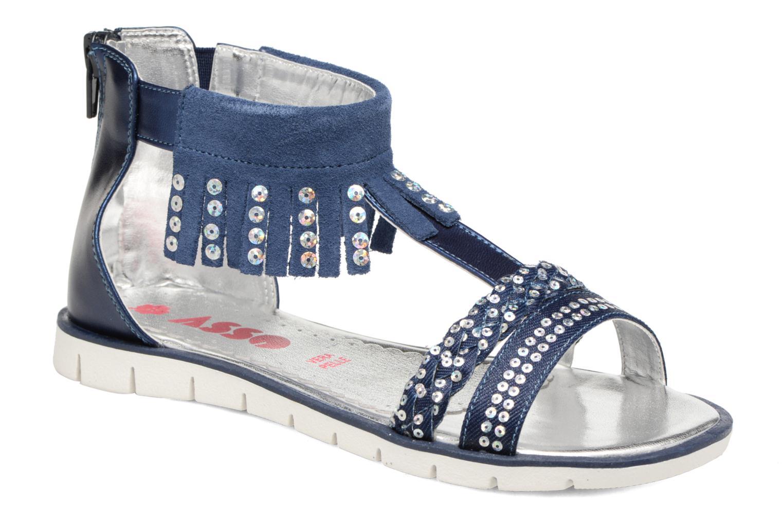 Sandales et nu-pieds ASSO Baccara Bleu vue détail/paire