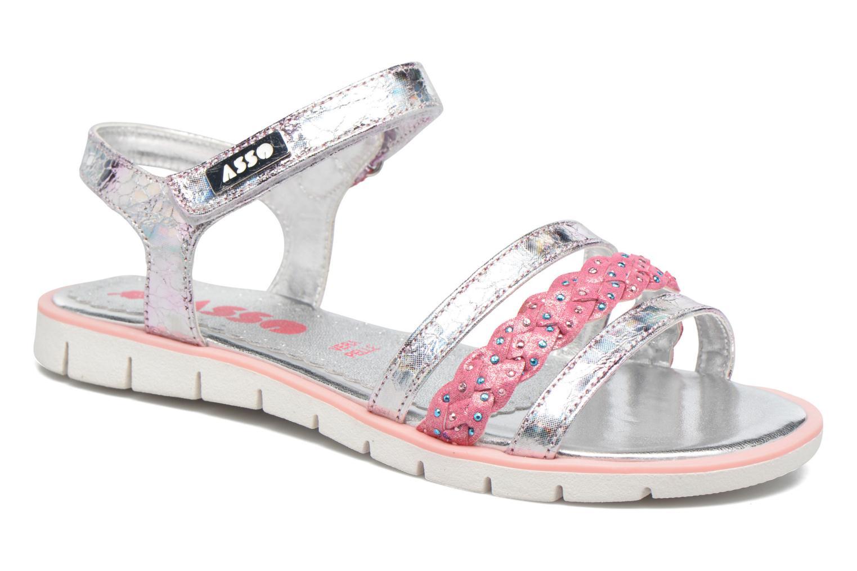 Sandales et nu-pieds ASSO Gabriella Argent vue détail/paire