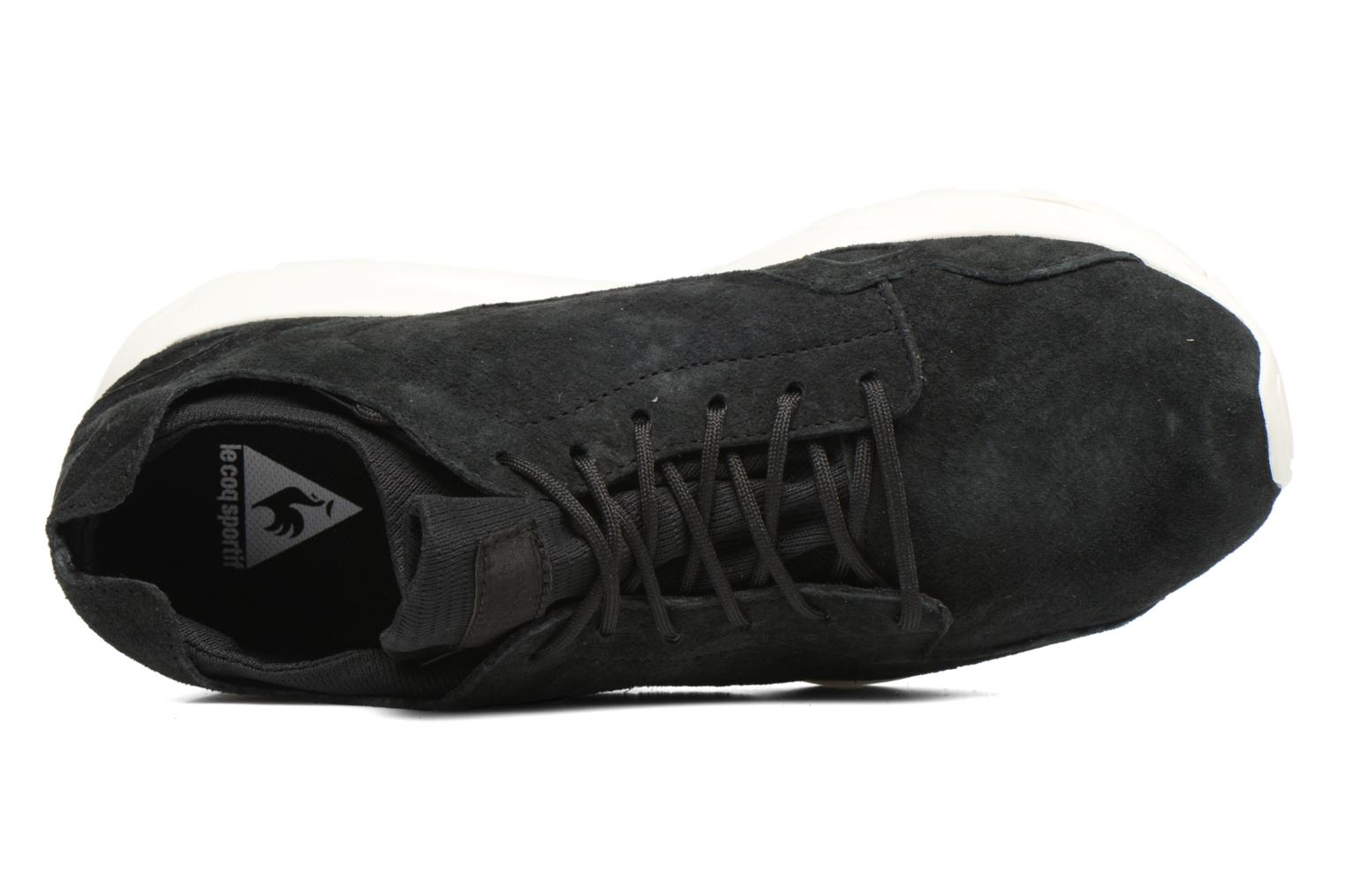 Sneakers Le Coq Sportif Lcs R Flow Nubuck Nero immagine sinistra