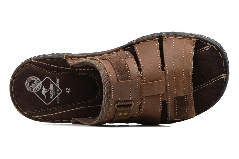 Sandales et nu-pieds Roadsign Geo Marron vue gauche