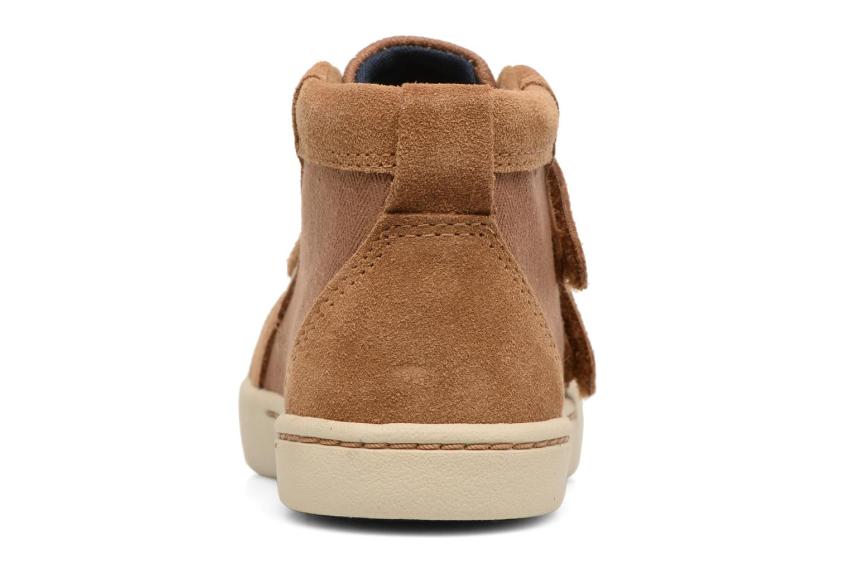 Chaussures à scratch UGG Rennon Herringbone Marron vue droite
