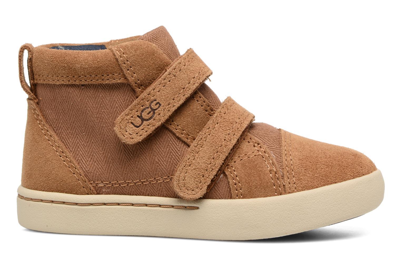 Chaussures à scratch UGG Rennon Herringbone Marron vue derrière