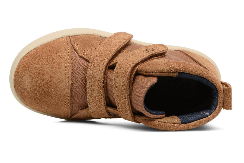 Chaussures à scratch UGG Rennon Herringbone Marron vue gauche