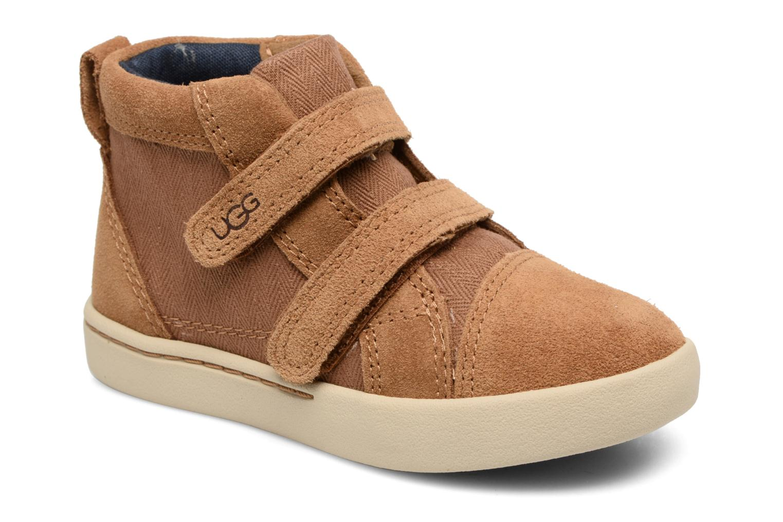 Chaussures à scratch UGG Rennon Herringbone Marron vue détail/paire