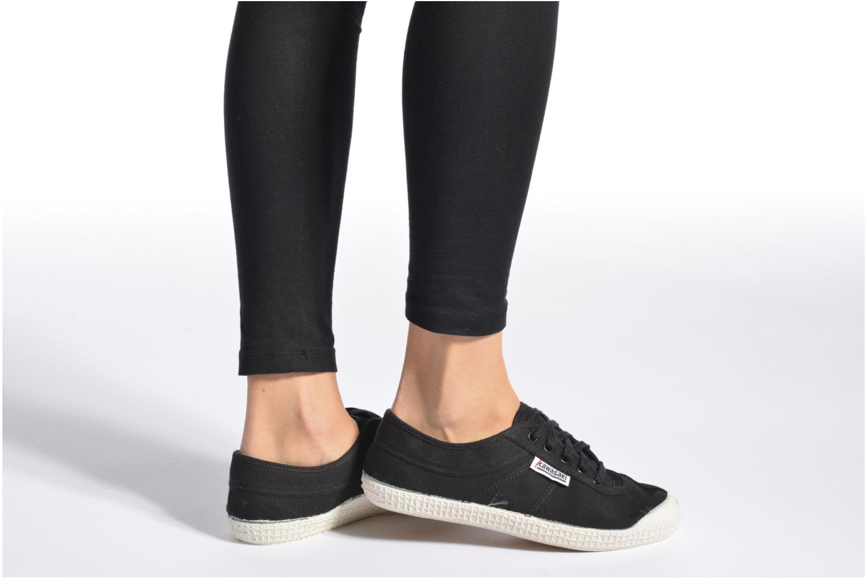 Chaussures à lacets Kawasaki Basic W Noir vue bas / vue portée sac