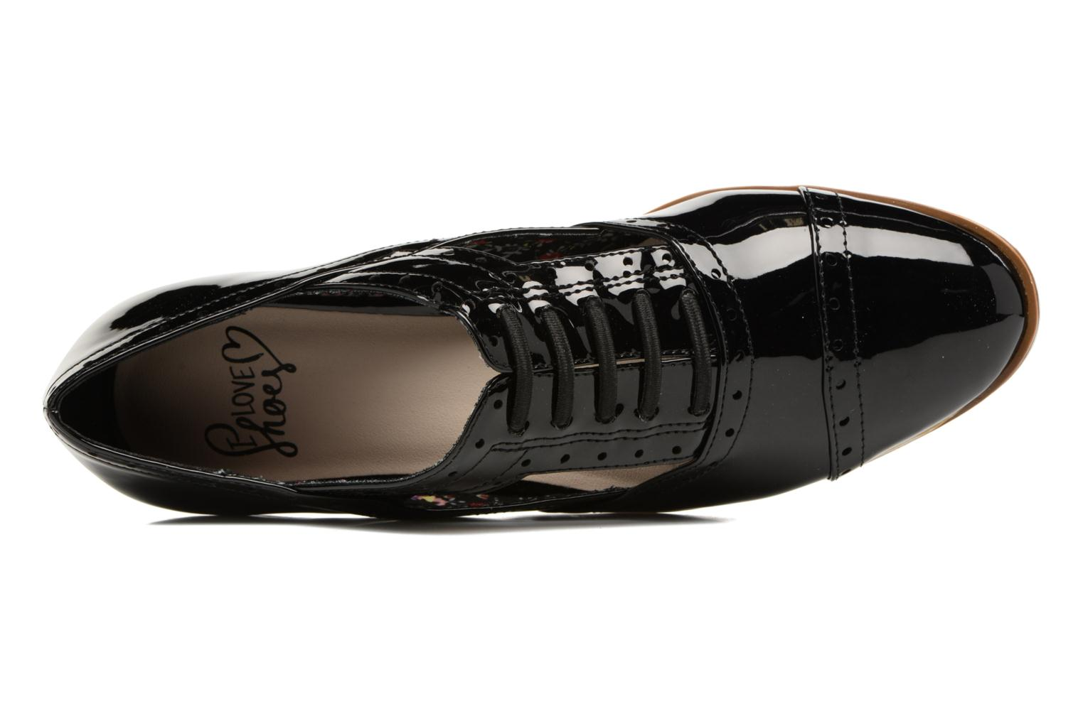 Lace-up shoes I Love Shoes BLEST Black view from the left