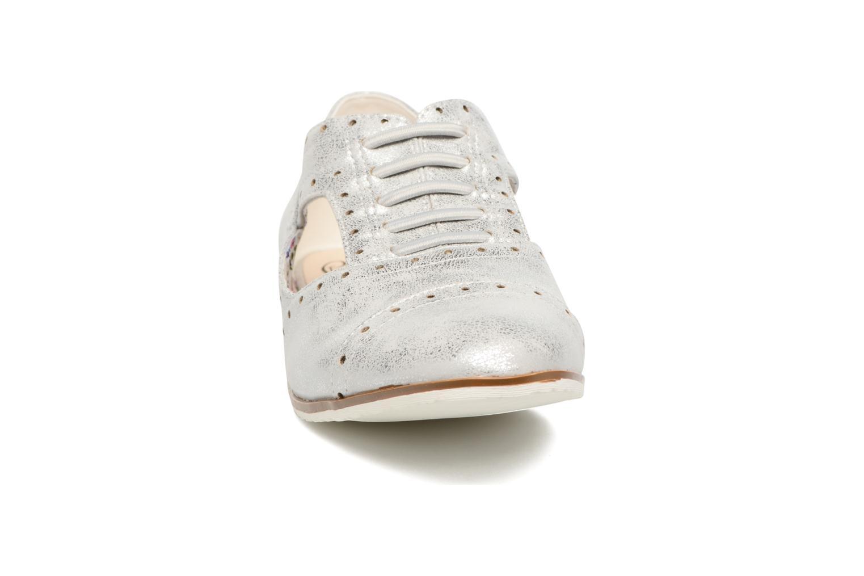 Zapatos con cordones I Love Shoes BLEST Plateado vista del modelo