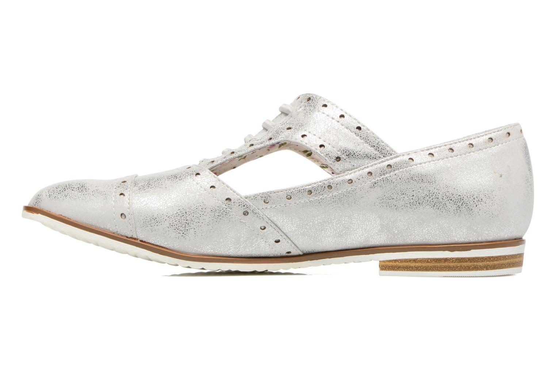 Zapatos con cordones I Love Shoes BLEST Plateado vista de frente
