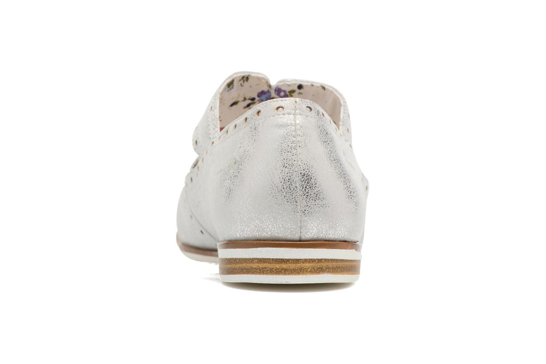 Zapatos con cordones I Love Shoes BLEST Plateado vista lateral derecha