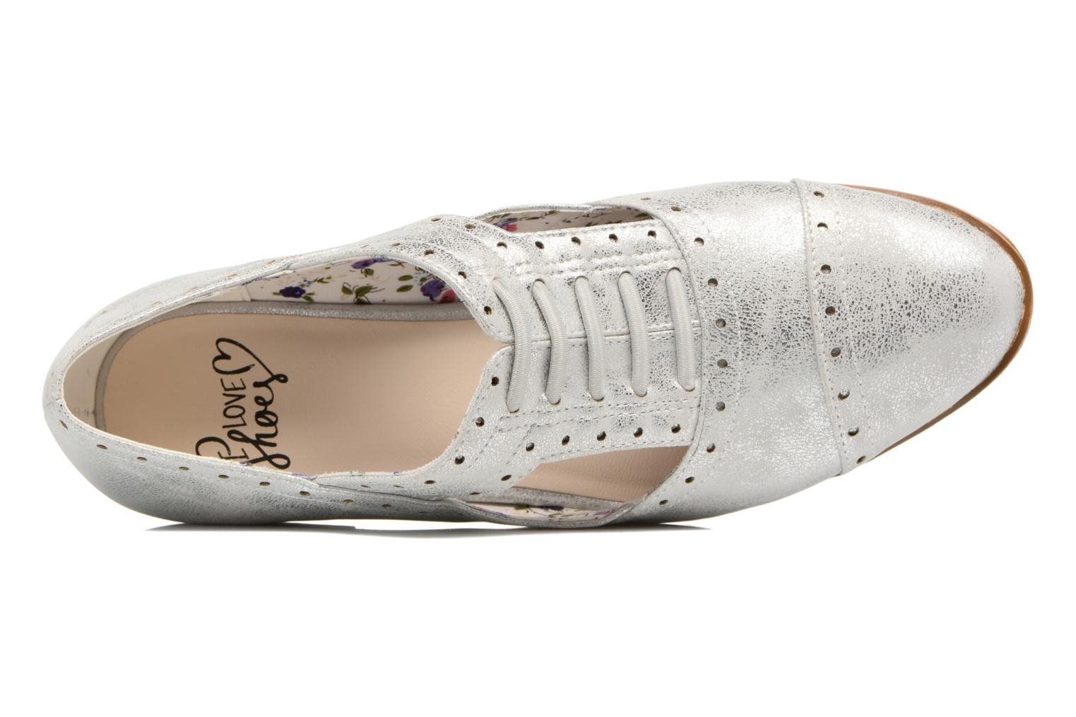 Lace-up shoes I Love Shoes BLEST Silver view from the left