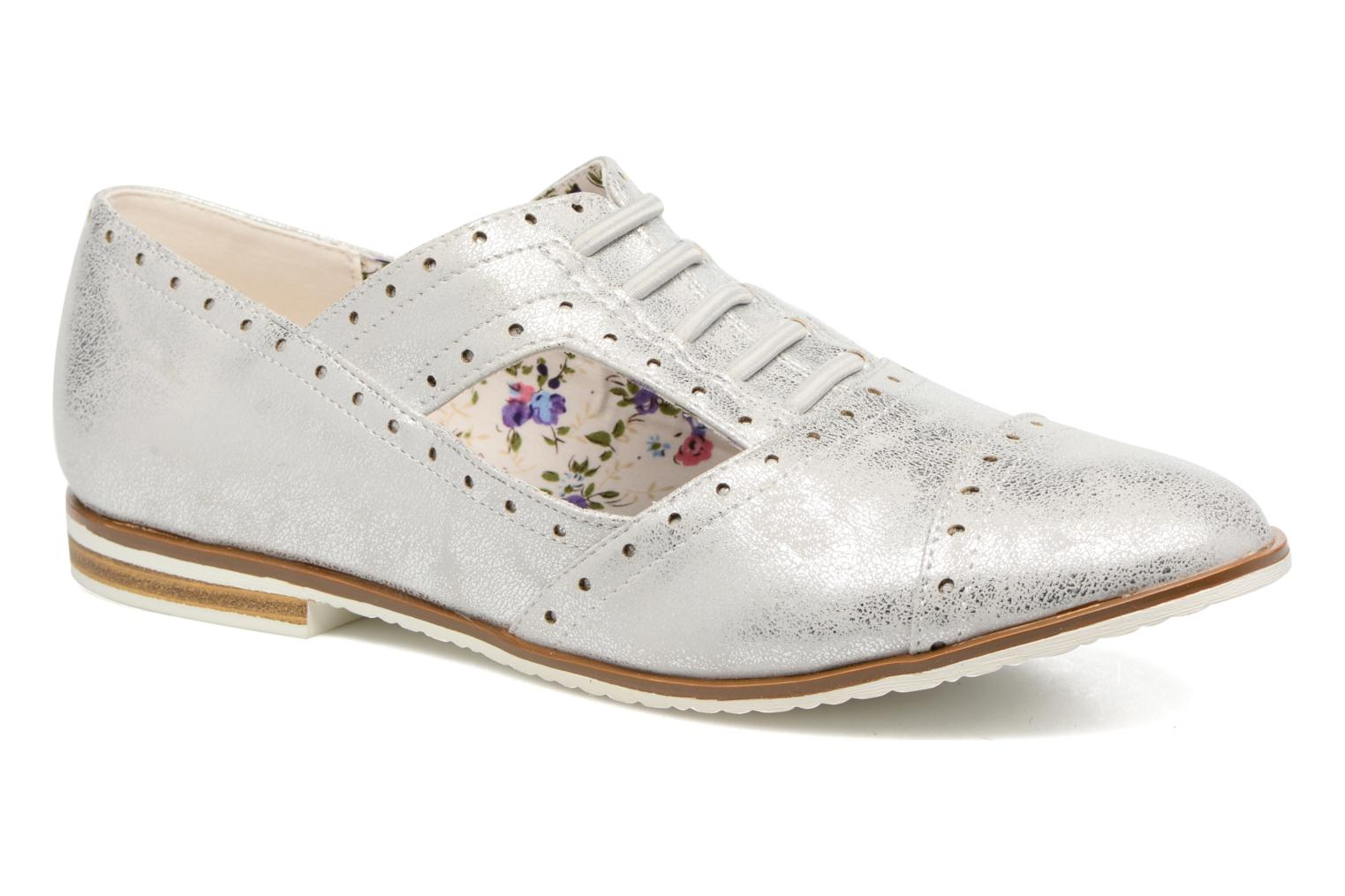 Lace-up shoes I Love Shoes BLEST Silver detailed view/ Pair view