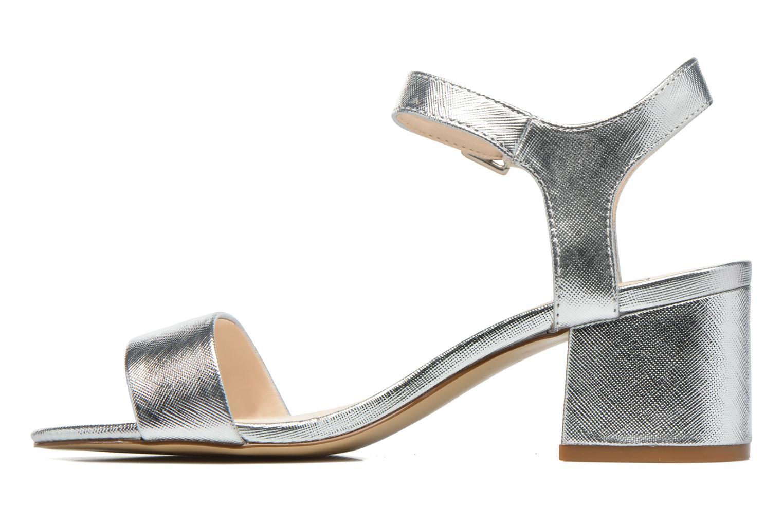 Sandales et nu-pieds I Love Shoes BLEUR Argent vue face