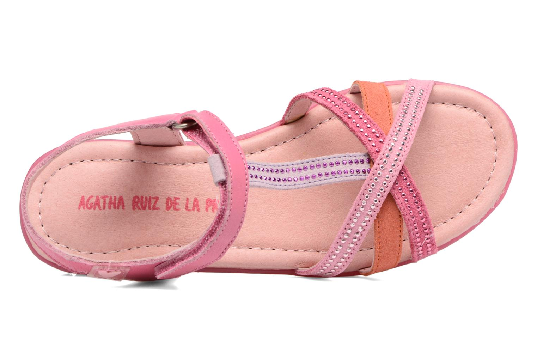 Sandalen Agatha Ruiz de la Prada Diva 2 rosa ansicht von links