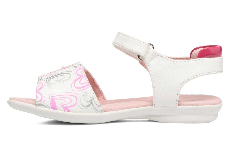Sandales et nu-pieds Agatha Ruiz de la Prada Clever 3 Blanc vue face