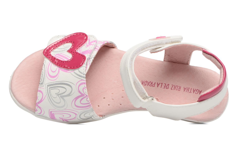 Sandales et nu-pieds Agatha Ruiz de la Prada Clever 3 Blanc vue gauche