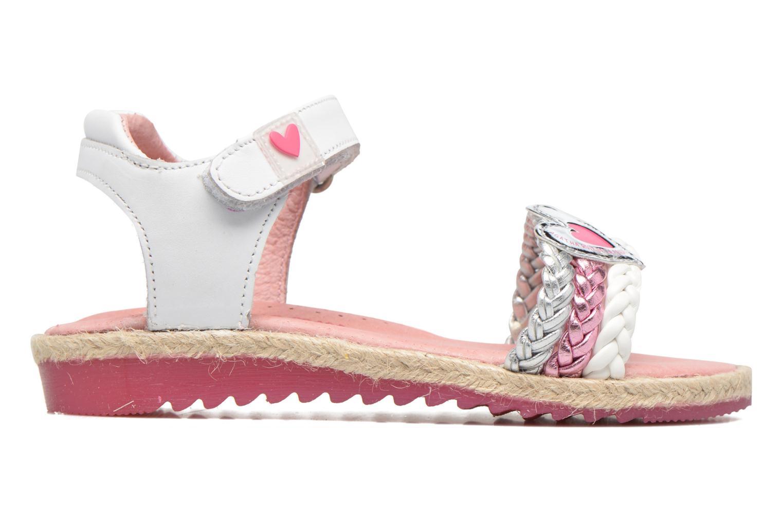 Sandales et nu-pieds Agatha Ruiz de la Prada Pop Blanc vue derrière