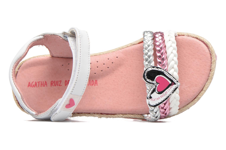 Sandales et nu-pieds Agatha Ruiz de la Prada Pop Blanc vue gauche