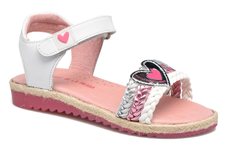 Sandales et nu-pieds Agatha Ruiz de la Prada Pop Blanc vue détail/paire