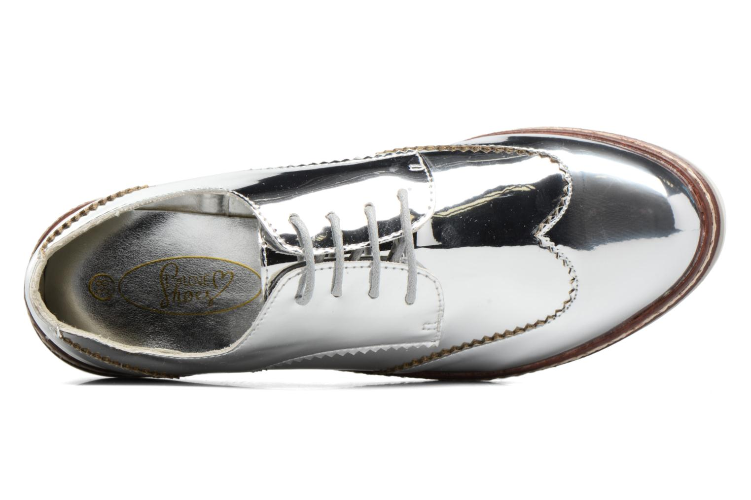 Lace-up shoes I Love Shoes thalweg Silver view from the left