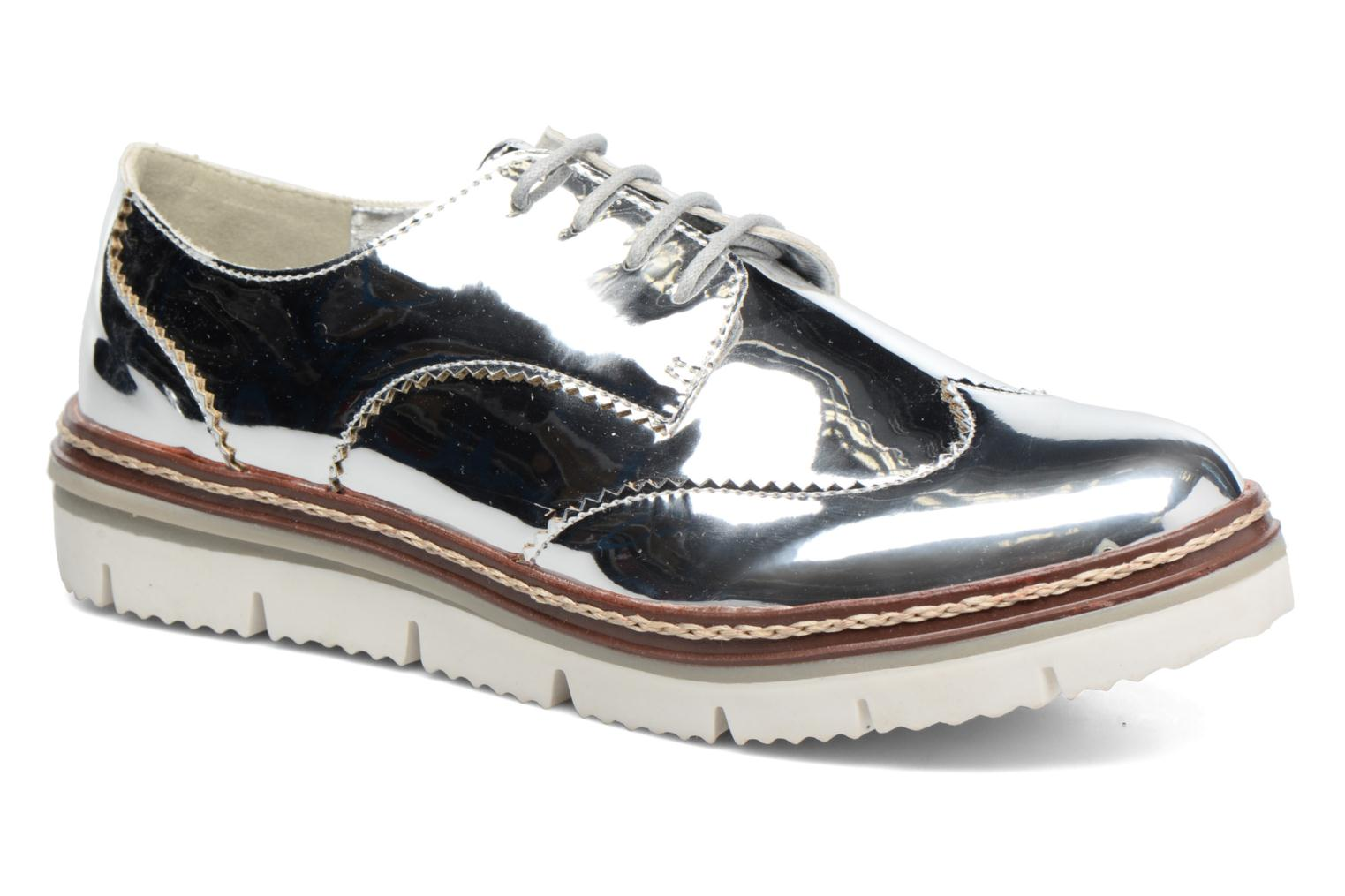 Lace-up shoes I Love Shoes thalweg Silver detailed view/ Pair view